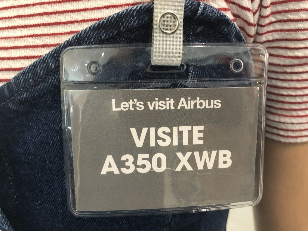 Visite guidee AIRBUS A350 XWB Toulouse