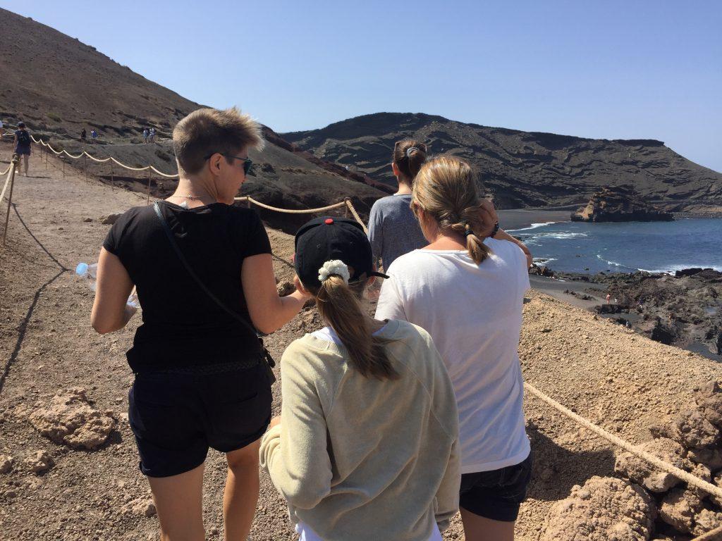 Camino de la Laguna Verde en El Golfo Lanzarote